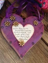 Handmade Mum You Are Precious Chunky Heart